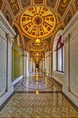 Photograph - Thomas Jefferson Building Hall by Susan Candelario