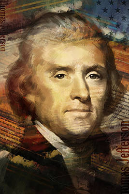 Politicians Paintings - Thomas Jefferson by Corporate Art Task Force