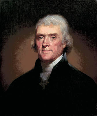 Thomas Jefferson Digital Art - Thomas Jefferson by Daniel Hagerman