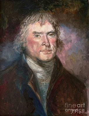 Thomas Jefferson Art Print by Irene Pomirchy