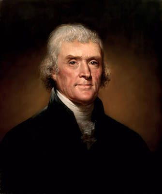 Painting - Thomas Jefferson President Portrait by DC Photographer
