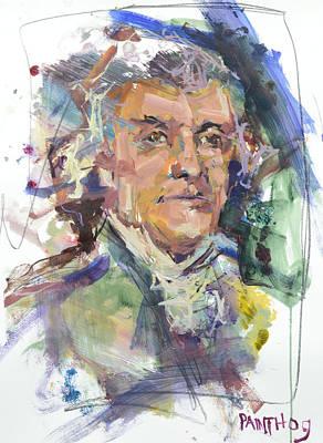 Painting - Thomas Jefferson Print by Robert Joyner