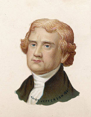 Thomas Jefferson Drawing - Thomas Jefferson  Us President  1801 - by Mary Evans Picture Library