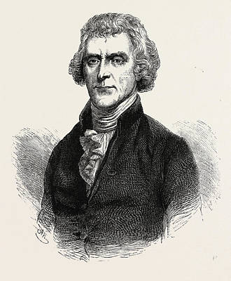 Thomas Jefferson Drawing - Thomas Jefferson Was An American Founding Father by American School