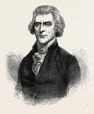 Thomas Jefferson Was An American Founding Father Art Print