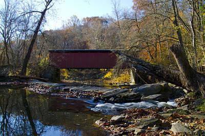 Thomas' Mill Covered Bridge In Fairmount Park Art Print by Bill Cannon