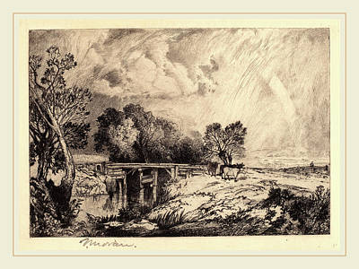 Thomas Moran, A Rustic Bridge, American, 1837-1926 Art Print by Litz Collection