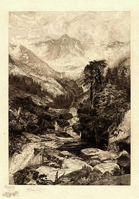 Thomas Moran, American 1837-1926, The Mountain Of The Holy Art Print by Litz Collection