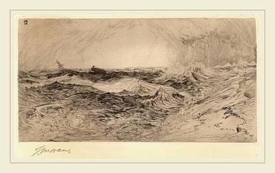 Thomas Moran, The Resounding Sea, American Art Print