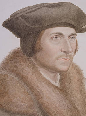 Statesmen Drawing - Thomas More by Hans Holbein the Younger