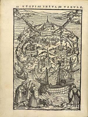 Thomas More's 'utopia' (1518) Art Print
