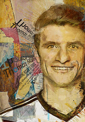 Fifa Painting - Thomas Muller by Corporate Art Task Force