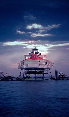 Landmarks Royalty Free Images - Thomas Pt.  Shoal Lighthouse Royalty-Free Image by Skip Willits