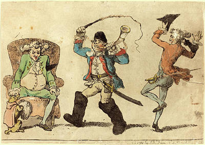 Handcolored Etching Drawing - Thomas Rowlandson, British 1756-1827, A Frenchman by Litz Collection