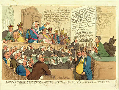 Handcolored Etching Drawing - Thomas Rowlandson, British 1756-1827, Boneys Trial by Litz Collection