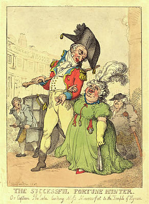 Handcolored Etching Drawing - Thomas Rowlandson, British 1756-1827, The Successful by Litz Collection