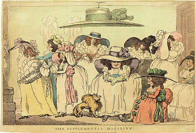 Handcolored Etching Drawing - Thomas Rowlandson, British 1756-1827, The Supplemental by Litz Collection