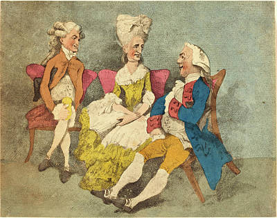Handcolored Etching Drawing - Thomas Rowlandson, British 1756-1827, Two Strings by Litz Collection