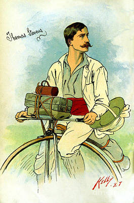 Photograph - Cyclist Thomas Stevens Around The World On A Bicycle by Phil Cardamone