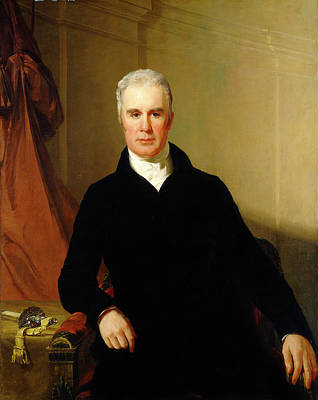 Sully Painting - Thomas Sully American, 1783 - 1872, Charles Carnan Ridgely by Quint Lox