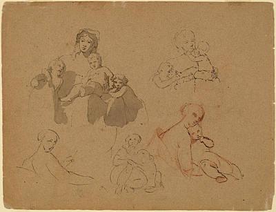 Sully Drawing - Thomas Sully, Studies Major Thomas Biddle And Thomas by Quint Lox
