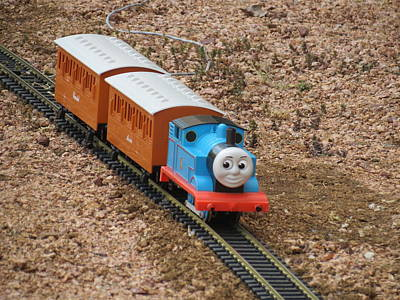 Photograph - Thomas The Little Engine by Kay Novy