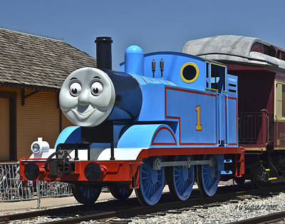 Photograph - Thomas The Tank Engine At Rest by Allen Sheffield