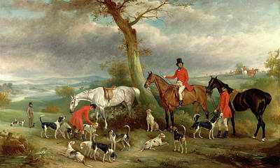 Thomas Wilkinson, M.f.h., With The Hurworth Foxhounds Print by Litz Collection
