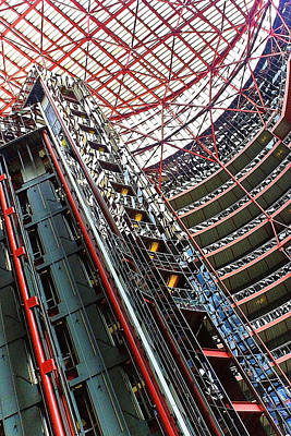 Photograph - Thompson Center Interior Elevator Shaft by Roger Passman