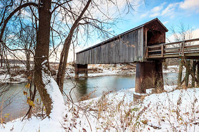 Photograph - Thompson Mill Covered Bridge by Ben Graham