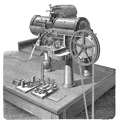 Thomson Telegraph Recorder Print by Science Photo Library