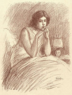 Atelier Drawing - Théophile Alexandre Steinlen Swiss, 1859 - 1923. Morning by Litz Collection