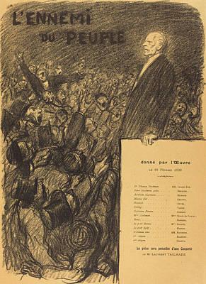 Brown Swiss Drawing - Théophile Alexandre Steinlen Swiss, 1859 - 1923 by Quint Lox