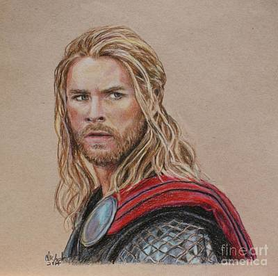 Thor Art Print by Christine Jepsen