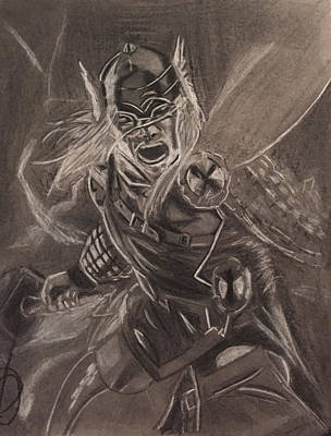 Thor Drawing - Thor by Donetta Jamieson