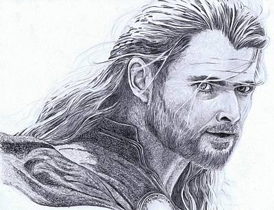 Thor Drawing Drawing - Thor by Paul Smutylo