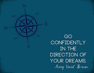 Digital Art - Thoreau Compass by Nancy Ingersoll