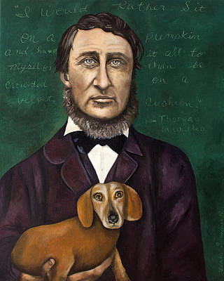 Thoreau Painting - Thoreau With Louis Le Bref by Leah Saulnier The Painting Maniac