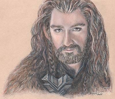 Tolkien Drawing - Thorin Oakenshield by Christine Jepsen