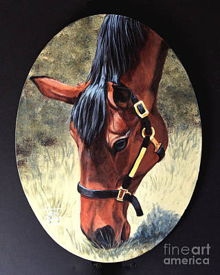 Thoroughbred Head Art Print