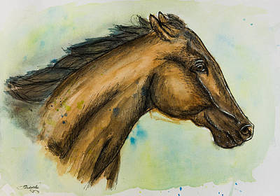 Race Horse Painting - Thoroughbred Portrait by Pati Photography