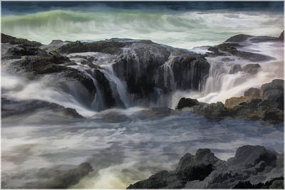 Photograph - Thor's Well by Erika Fawcett