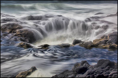 Photograph - Thors Well In Oils by Erika Fawcett