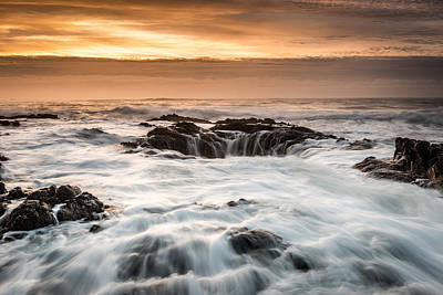 Thor's Well Art Print by Mike  Walker