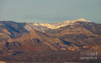 Those Beautiful Snow Cap Mountains Of Nv Art Print