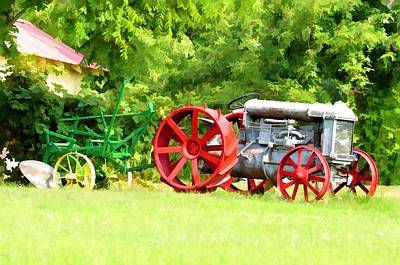 Photograph - Those Big Red Wheels by Jan Amiss Photography