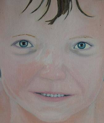 Those Blue Eyes Art Print