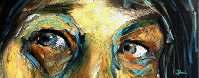 Mixed Media - Those Eyes by Jim Vance