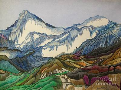 Drawing - Those Majestic Mountains by Janet Hinshaw