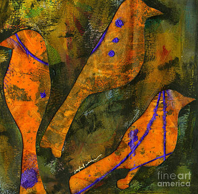 Mixed Media - Those Pretty Birds Outside My Window by Angela L Walker